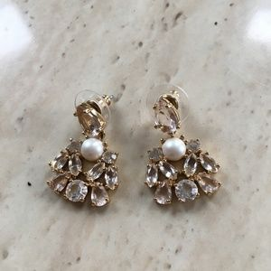 kate spade Glass and Pearl Statement Earrings